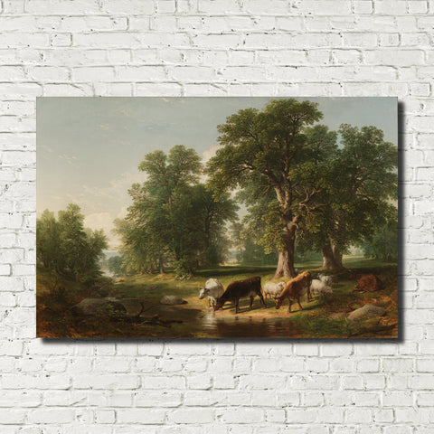 Asher Brown Durand, American Fine Art Print : Summer Afternoon