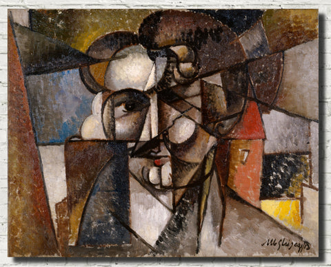 Albert Gleizes Abstract Art Print, Head in a Landscape