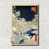 Andō Hiroshige, Japanese Art, Old Masters Print : Drum Bridge