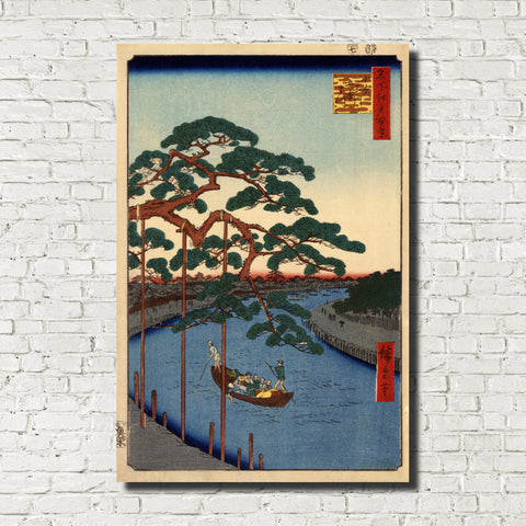 Andō Hiroshige, Japanese Art, Old Masters Print : Five Pines