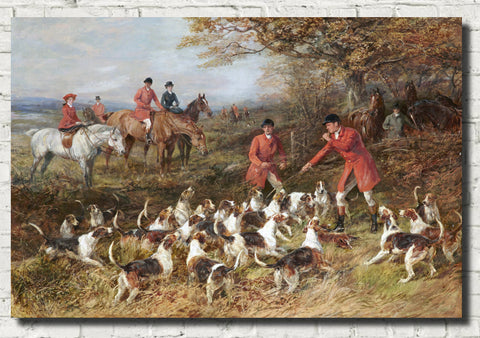 Heywood Hardy Fine Art Print, Hunters and Hounds