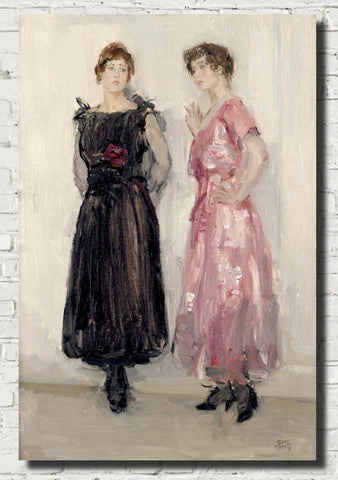 Isaac Israëls Fine Art Print, Ippy and Gertie posing at fashion house Hirsch, Amsterdam