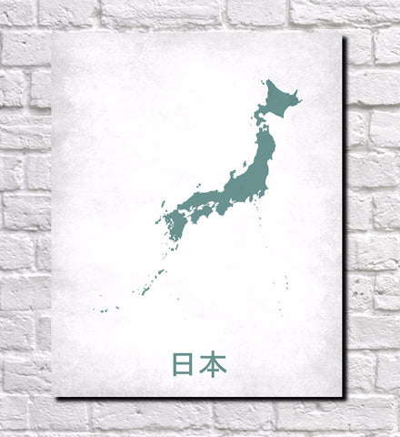 Japanese Map Print Outline Wall Map Of Japan Ontrendandfab