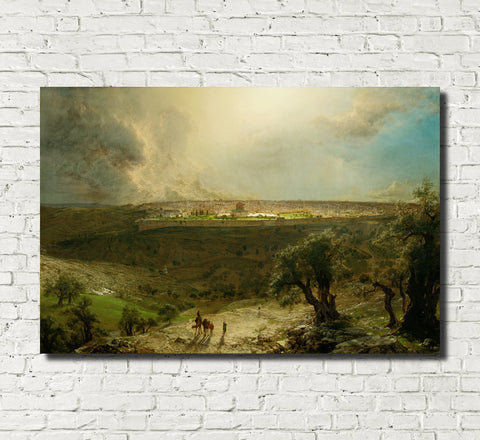 Frederic Edwin Church, Fine Art Print : Jerusalem from the Mount of Olives