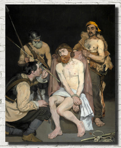Édouard Manet, French Impressionist Fine Art Print : Jesus Mocked by the Soldiers