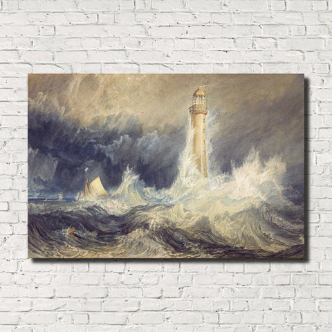 J.M.W. Turner, Old Masters Fine Art Print: Bell Rock Light House