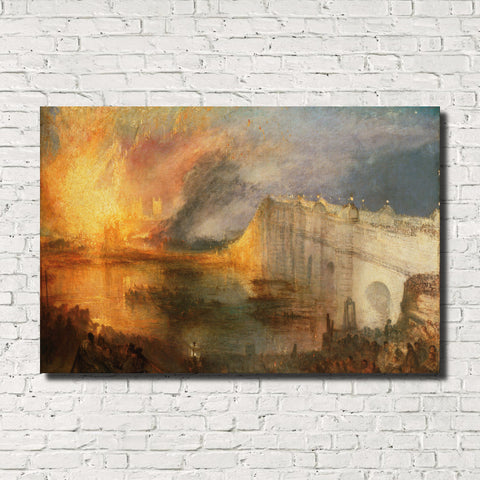 J.M.W. Turner, Old Masters , The Burning of the Houses of Lords & Commons