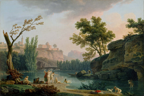 Claude Joseph Vernet, Fine Art Print : Summer Evening, Italy