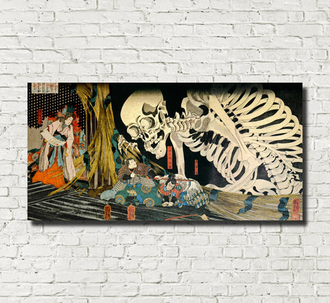 Takiyasha the Witch and the Skeleton Spectre Japanese Fine Art Print