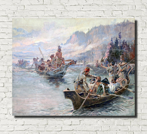 Charles Marion Russell, Fine Art Print : Lewis and Clark Expedition