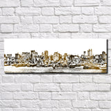 Manhattan New York Poster Panorama City Street Scene Art Print 5358
