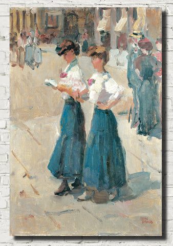 Isaac Israëls Fine Art Print, Midinettes on the Place Vendome, Paris