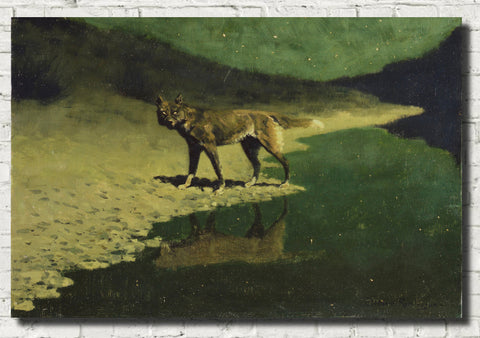 Frederic Remington, Fine Art Print : Moonlight Wolf