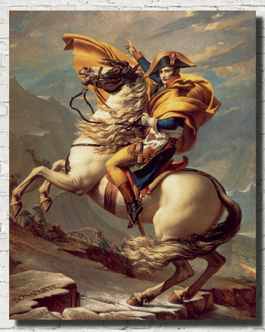 Jacques-Louis David Fine Art Print, Napoleon Crossing the Alps