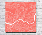Newcastle City Street Map Poster Custom Wall Map Print - OnTrendAndFab