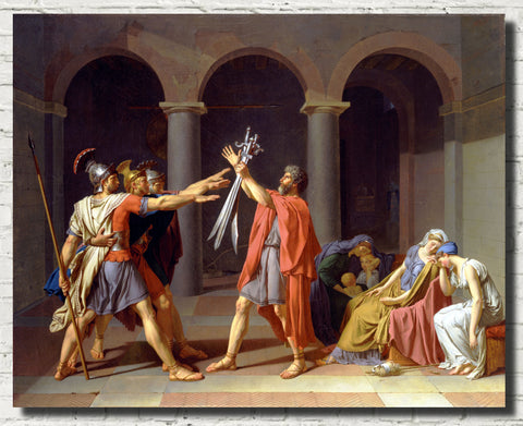 Jacques-Louis David Fine Art Print : Oath of the Horatii