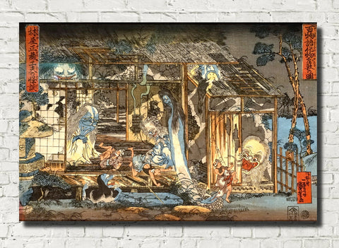 Haunted House, Japanese Fine Art Print, Utagawa Kuniyoshi
