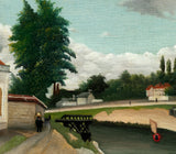 Henri Rousseau, Post- Impressionist Fine Art Print, Outskirts of Paris