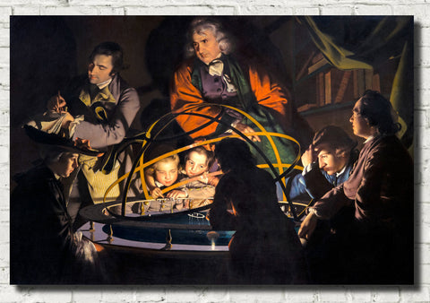 Joseph Wright of Derby Fine Art Print : Philosopher Giving that Lecture on the Orrery