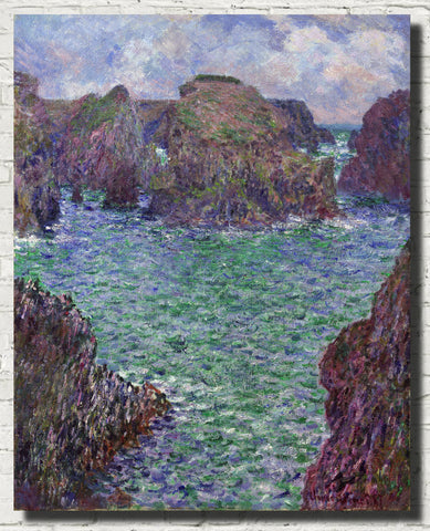 Claude Monet Fine Art Print, port-goulphar belle-île