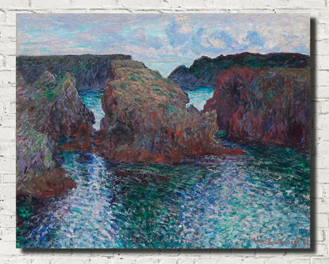 Claude Monet Fine Art Print, Rocks at port-goulphar belle-île