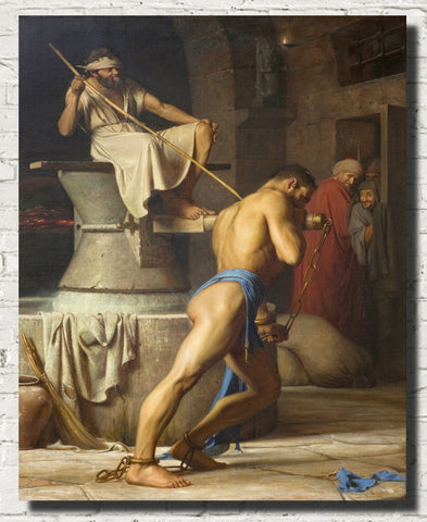 Carl Bloch Fine Art Print, Samson and the Philistines