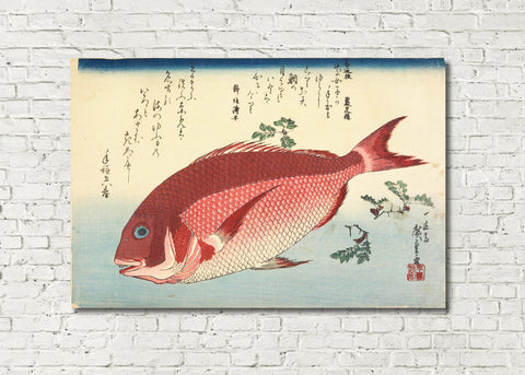 Fish Print Sea Bream Andō Hiroshige, Japanese Art