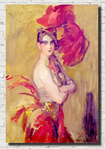 Isaac Israëls Fine Art Print, Show-girl (La Cocotte) at Scala Theatre, The Hague