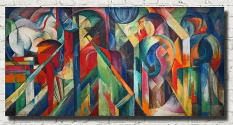 Franz Marc Abstract Fine Art Print, Stables