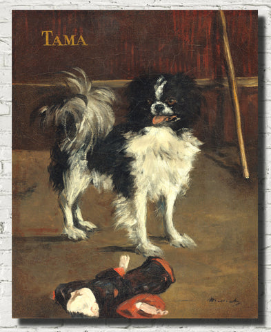 Édouard Manet, French Impressionist Fine Art Print : Tama, The Japanese Dog