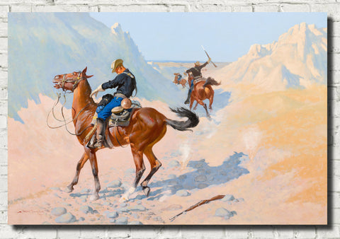 Frederic Remington, Fine Art Print : The Advance-Guard, or The Military Sacrifice (The Ambush)