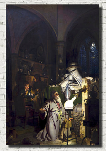 Joseph Wright of Derby Fine Art Print : The Alchemist Discovering Phosphorus