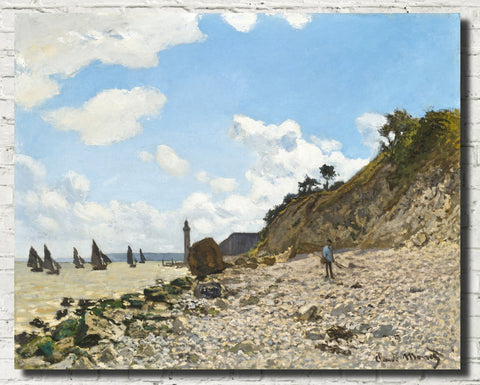 Claude Monet Fine Art Print, The Beach at Honfleur