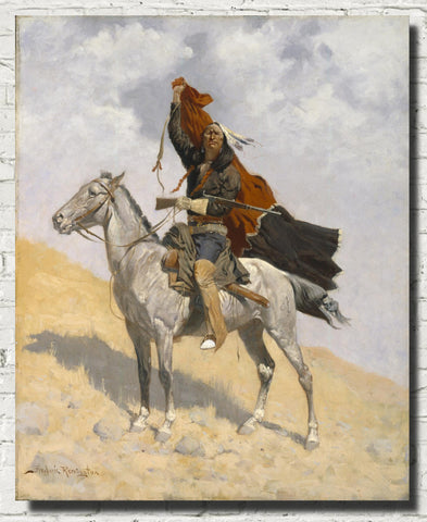Frederic Remington, Fine Art Print : The Blanket Signal