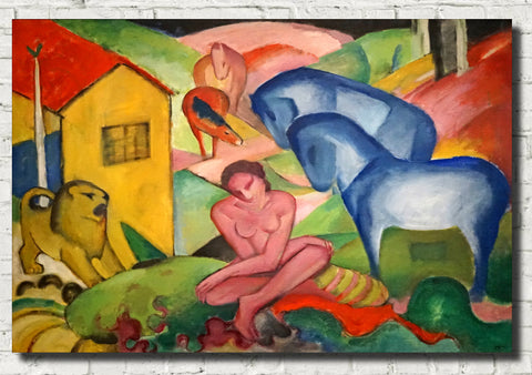 Franz Marc Abstract Fine Art Print, The Dream