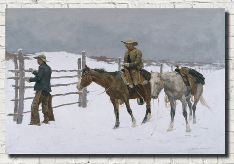 Frederic Remington, Fine Art Print : The Fall of the Cowboy