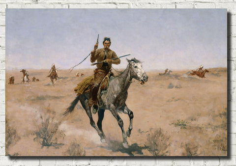 Frederic Remington, Fine Art Print : The Flight