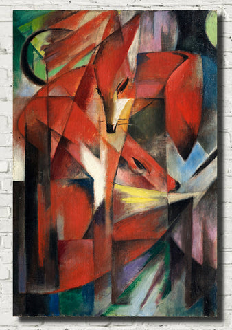Franz Marc Abstract Fine Art Print, The Foxes
