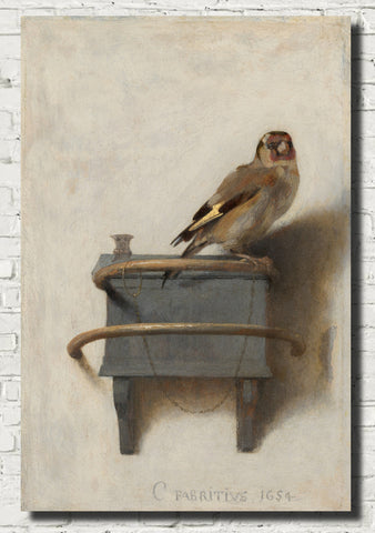 Carel Fabritius Fine Art Print, The Goldfinch