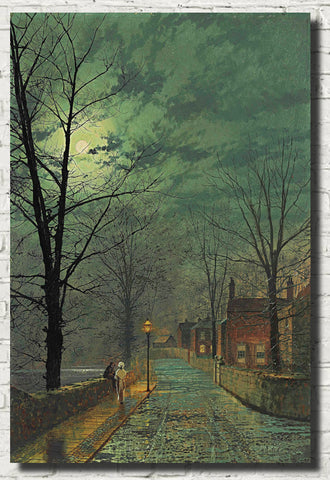 John Atkinson Grimshaw Fine Art Print: The Gossips, Bonchurch, Isle of Wight