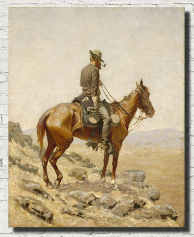 Frederic Remington, Fine Art Print : The Lookout