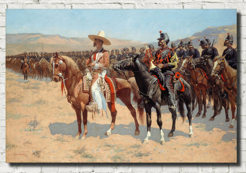 Frederic Remington, Fine Art Print : The Mexican Major