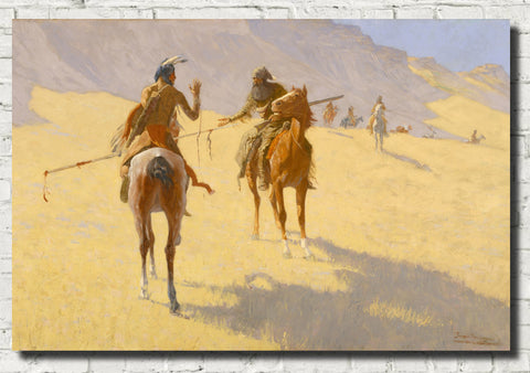 Frederic Remington, Fine Art Print : The Parley