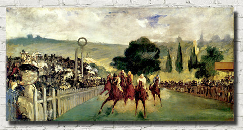 Édouard Manet Impressionist French Fine Art Print : The Races at Longchamp