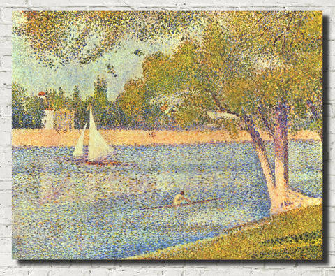 Georges Seurat Print : The Seine at La Grand Jatte