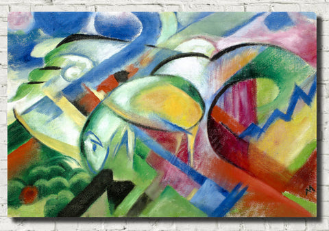 Franz Marc Abstract Fine Art Print, The Sheep