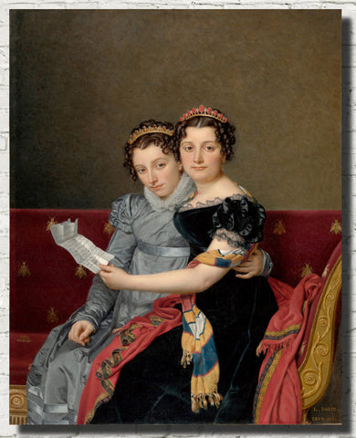 Jacques-Louis David Fine Art Print : The Sisters Zénaïde and Charlotte Bonaparte