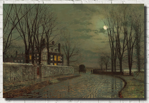 John Atkinson Grimshaw Fine Art Print : The Turn of the Road