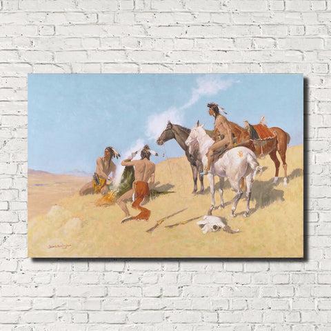 Frederic Remington, Old Masters Fine Art Print : The Smoke Signal
