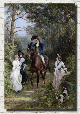 Heywood Hardy Fine Art Print, The Meeting in the Forest